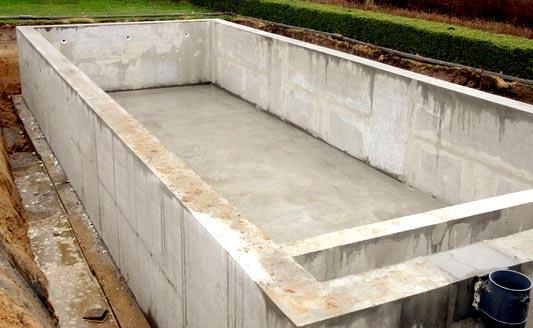 Waterdichte Betonkuip